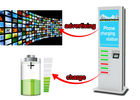 42 Inch LCD Digital Signage Cell Phone Fast Charging Station Kiosk  with 6 Secured Safe Doors