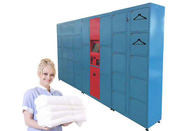 Intelligent Sending SMS Message Laundry Locker , Self-Service Locker Delivery Service  Equipment