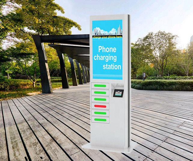 Coin Operated Mobile Phone Charging Machines Public Charging Stations for Shopping Mall Airport