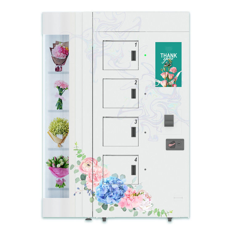 6 Channels Flower Vending Machine With Refrigeration Humidification System